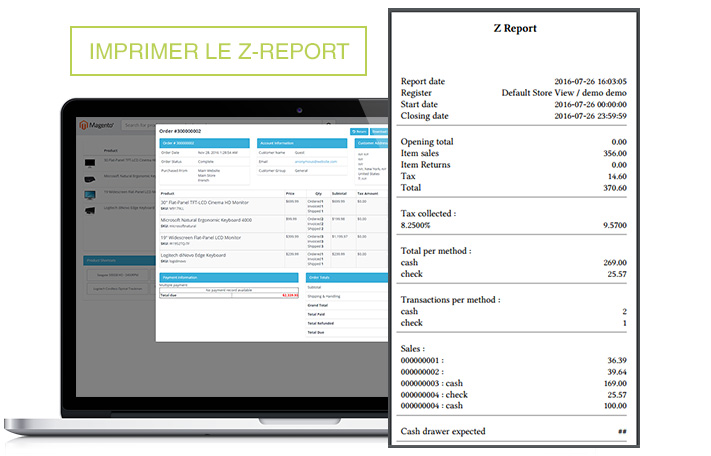 Screen Point of Sales M1 Z-Report