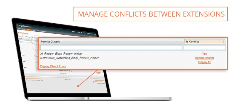 Screen Magento conflict
