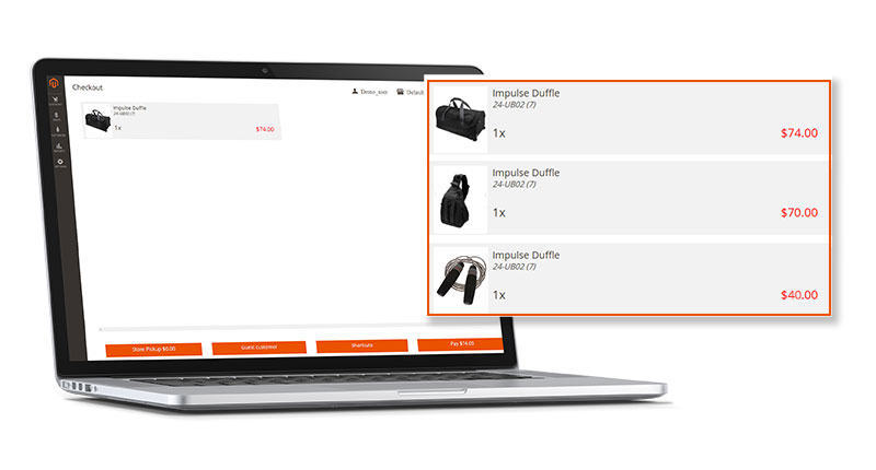 Screen Point of Sales M2 Checkout