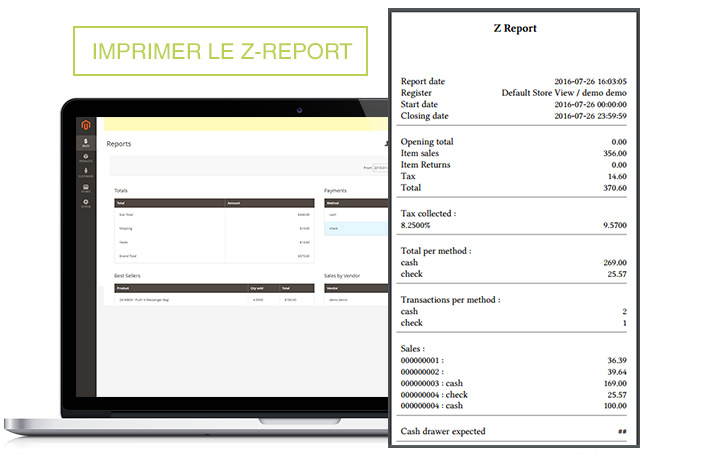 Screen Point of Sales M2 Z-Report